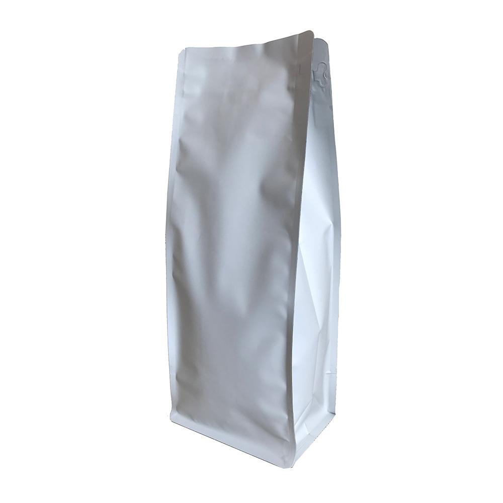 Белый крафт пакет для кофе