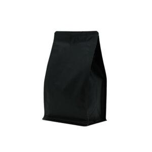 Упаковка для кофе на 250 г черного цвета