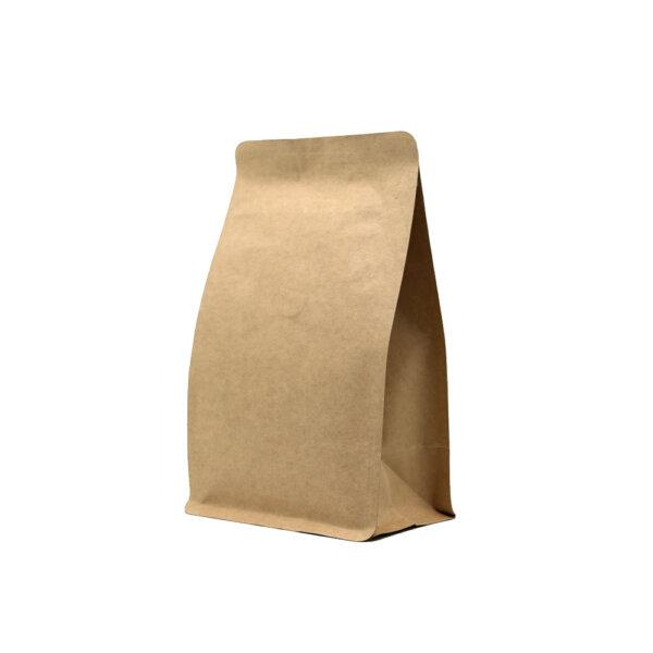 Упаковка для кофе на 250 г коричневый крафт