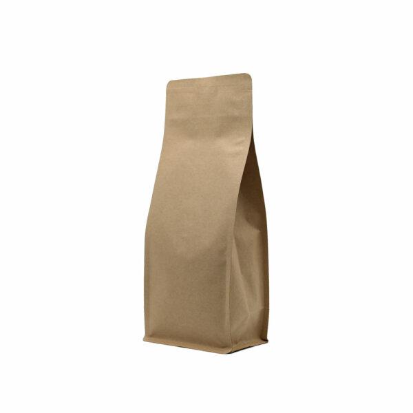 Упаковка для кофе на 500 г коричневый крафт