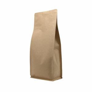 Упаковка для кофе на 1000 г коричневый крафт