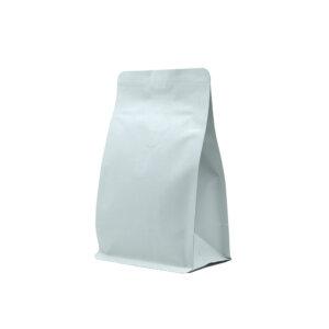 Упаковка для кофе на 250 г белого цвета крафт