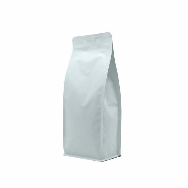 Упаковка для кофе на 500 г белого крафт цвета